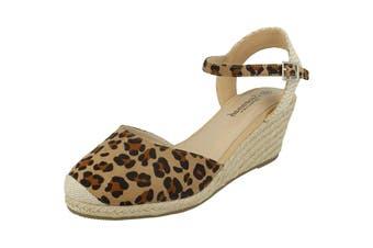 Savannah Womens/Ladies Ladies Mid Rope Wedge Espadrilles (Tan Leopard) (6 UK)