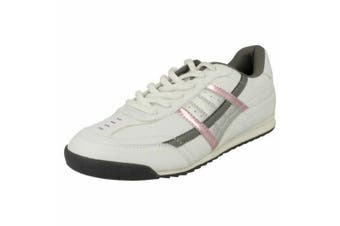 Spot On Womens/Ladies Lace Up Trainers (White/Pink) (5 UK)