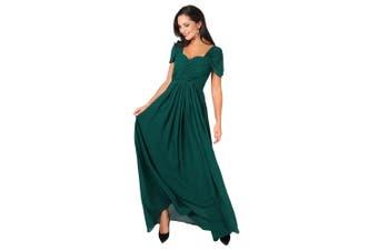 Krisp Womens/Ladies Multiway Neckline Occasion Maxi Dress (Green) - UTKP136