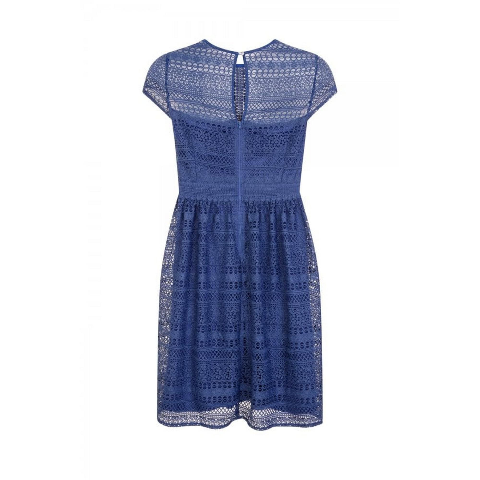 Little Mistress Curvy Womens//Ladies Emilia Geometric Lace Skater Dress