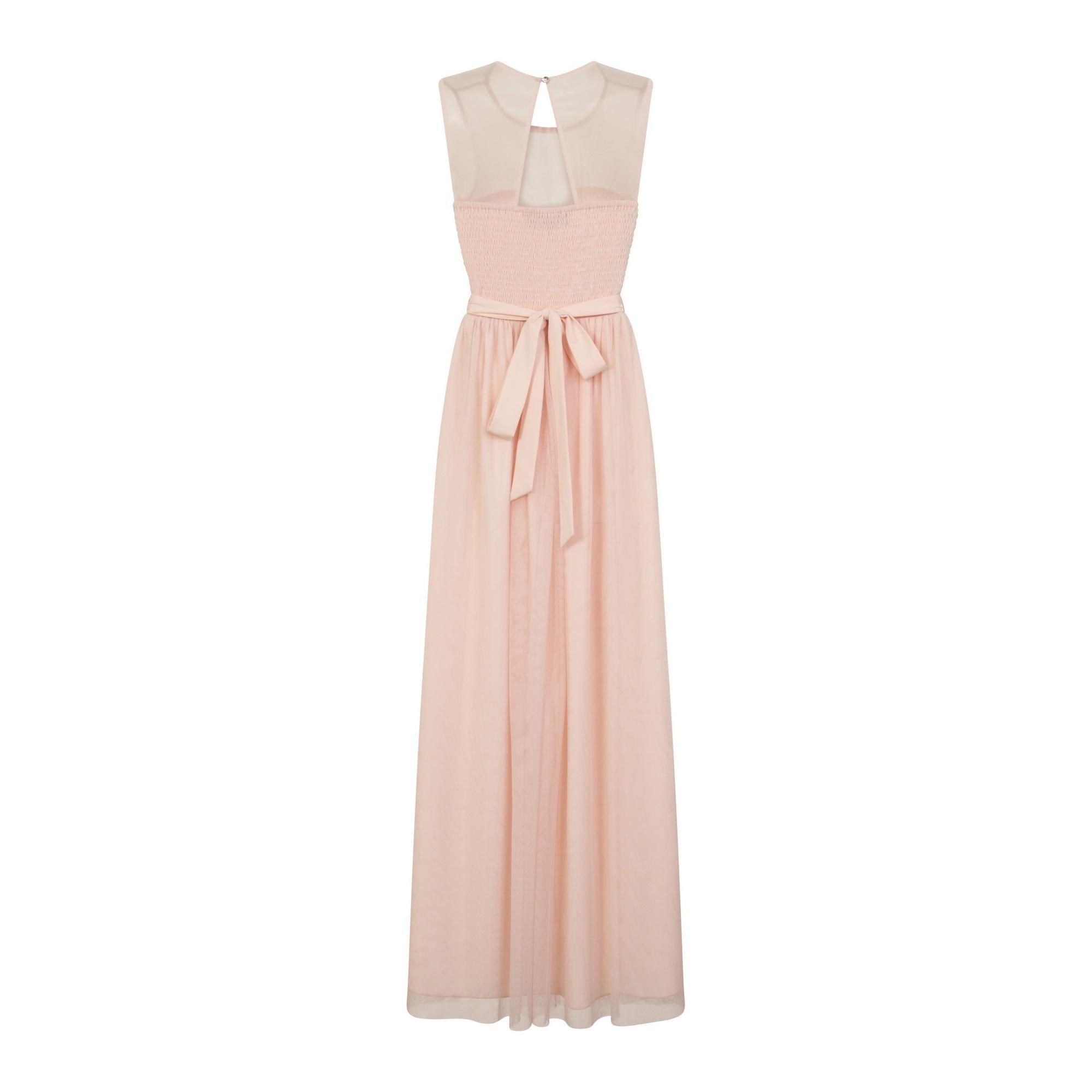 Little Mistress Womens//Ladies Delphi Sweetheart Mesh Maxi Dress