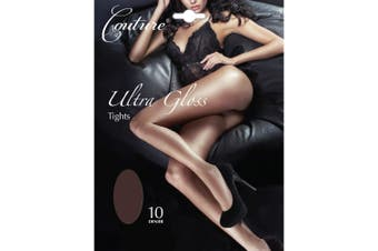 Couture Womens/Ladies Ultra Gloss Tights (1 Pair) (Barely Black) - UTLW395
