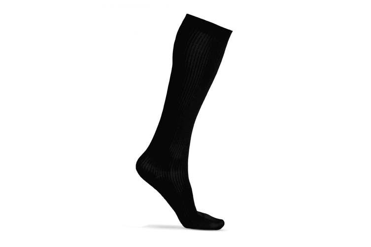 Silky Womens/Ladies Health Compression Sock (1 Pair) (Black) (L)