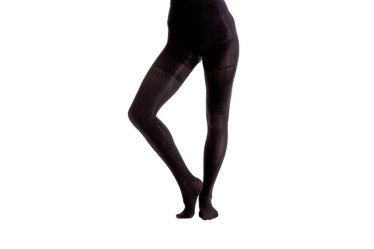 Couture Womens/Ladies Body Shaping Opaque Tights (1 Pair) (Black) (36 - 42 Inch)