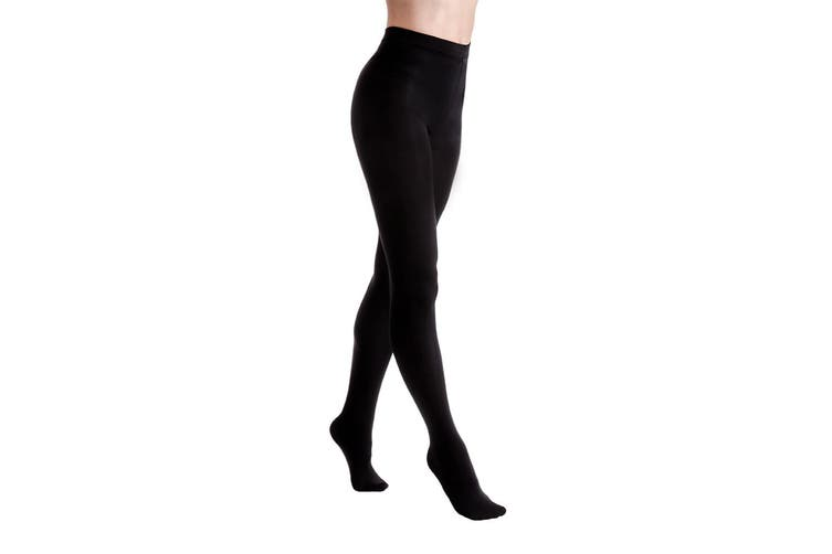 Couture Womens/Ladies Velvet Fleece Tights (1 Pair) (Black) (Medium)
