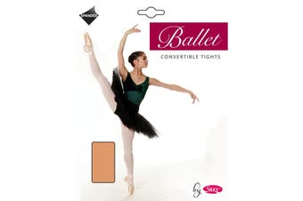 Silky Childrens Girls Convertible Dance Ballet Tights (1 Pair) (Tan) (5-7 Years)
