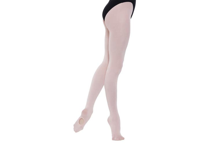 Silky Childrens Girls Convertible Dance Ballet Tights (1 Pair) (Pink) (5-7 Years)