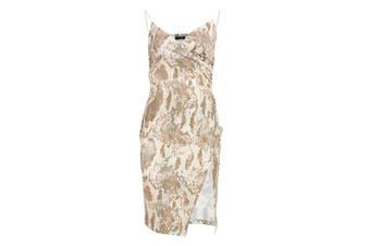Girls On Film Womens/Ladies Leon Split Front Dress (Snake Print) - UTLZ136