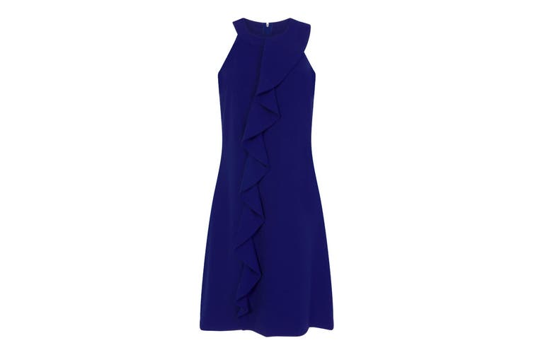 Paper Dolls Womens/Ladies Kempsey Frill Front Shift Dress (Cobalt Blue) (8 UK)