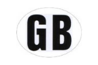 Great Britain Car/Caravan Sticker (White/Black) (One Size)