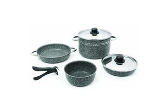 Beaver Brand Stone Rock 20 Cookware Set (Grey) (One Size)