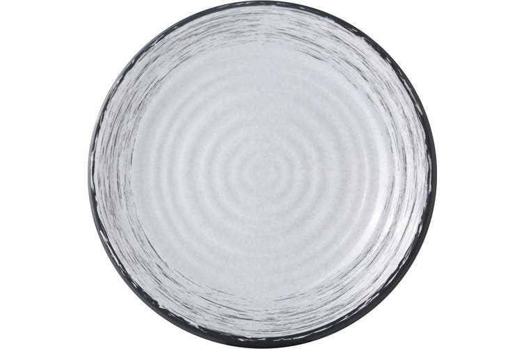 Granada Melamine Dinner Plate (White/Grey) (One Size)