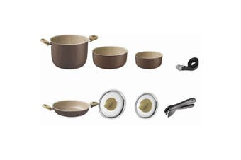 Brunner Chocolate Brown Saucepan Set (8 Pieces) (Chocolate) (One Size)