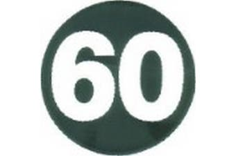W4 60mph Sticker (White/Black) (One Size)