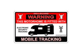 W4 Security Tracking Fitted Motorhome Sticker (Red/White/Black) (One Size)