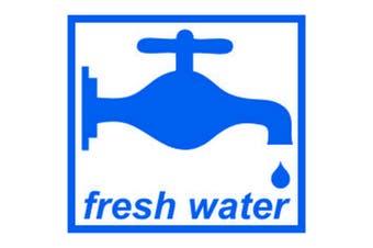 W4 Fresh Water Sticker (White/Blue) (One Size)