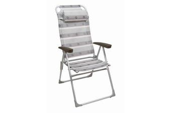 Camp 4 Malaga Compact II Graphic Print Foldable Camping Chair (Off White) (One Size)