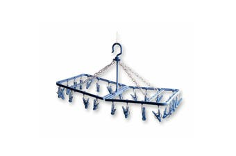 Brunner Sun Time Square Hanging Laundry Airer (Blue) (One Size)