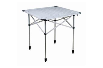 Reimo Duo Classic Camping Slat Table (Silver) (One Size)