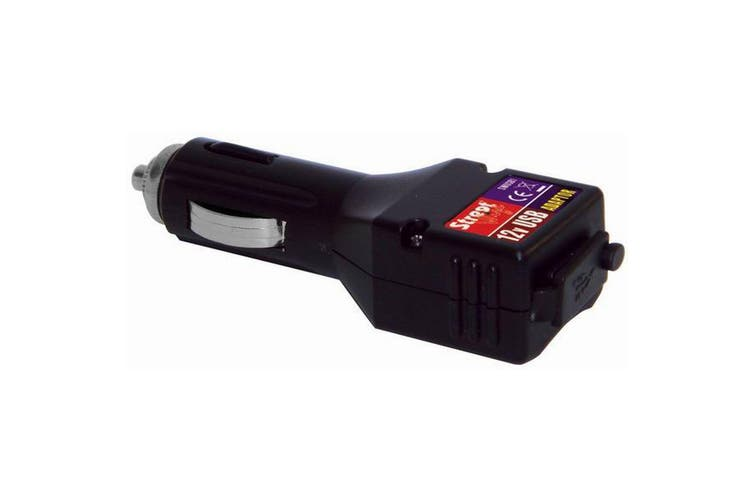 12v Car USB Adaptor (Black) (One Size)
