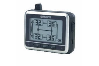 Snooper Tyre Pilot Tyre Pressure Monitoring Display Unit And Sensors (Black/Silver) (One Size)