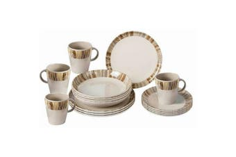 Brunner Bamboo Melamine Dinner Set (16 Pieces) (Brown) (One Size)