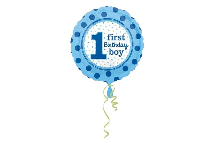 Anagram First Birthday Boy Foil Balloon (Blue) (43 cm)