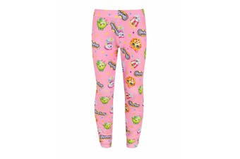 Shopkins Childrens/Girls Official Icons Design Leggings (Pink) (Years (9/10))