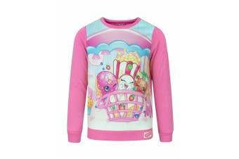 Shopkins Childrens/Girls Official Character Design Sweatshirt (Dark Pink)