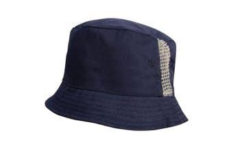 Result Headwear Unisex Cotton Drill Bucket Hat (Navy) (One size)