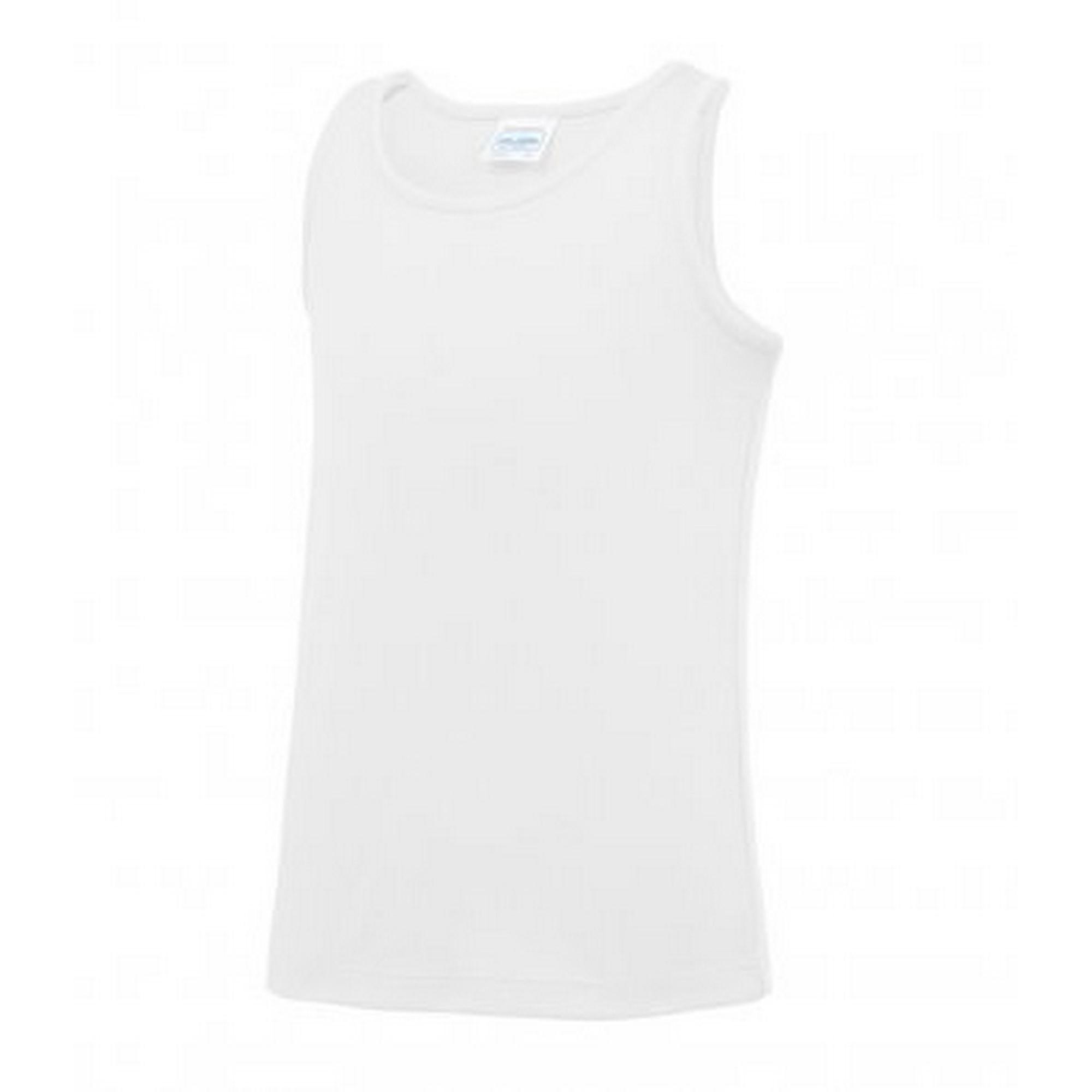 5-6 Years AWDis Childrens//Kids Just Cool Sleeveless Vest Top Arctic White