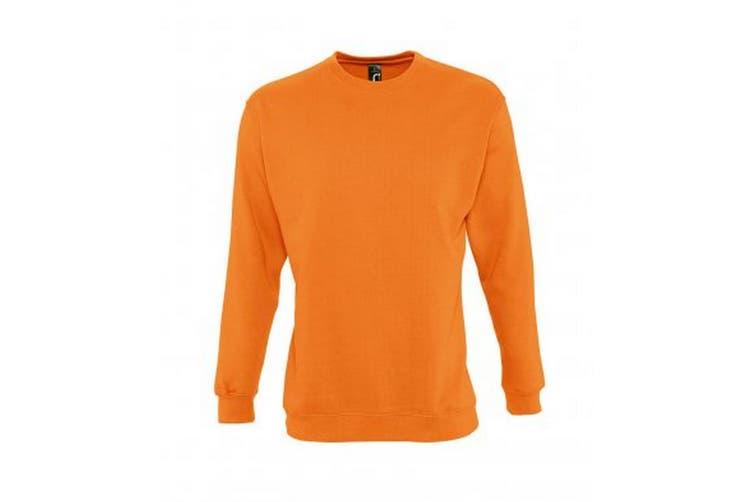 SOLS Mens Supreme Plain Cotton Rich Sweatshirt (Orange) (3XL)