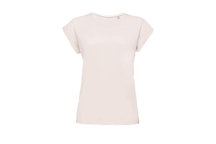 SOLS Womens/Ladies Melba Plain Short Sleeve T-Shirt (Creamy Pink) (L)