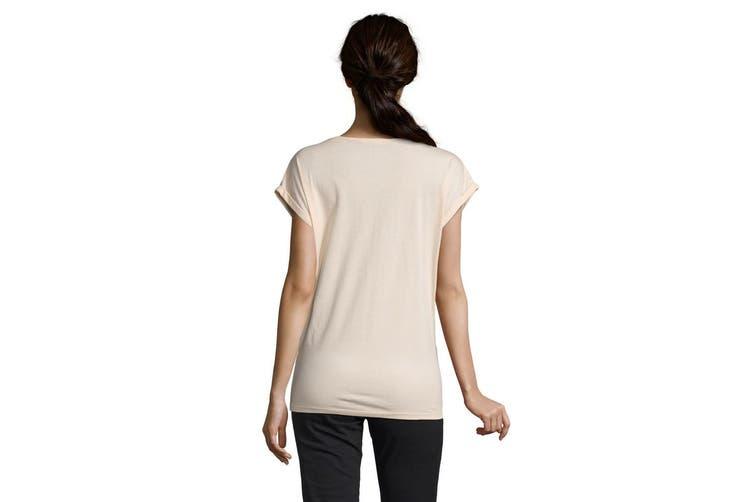 SOLS Womens/Ladies Melba Plain Short Sleeve T-Shirt (Creamy Pink) (S)