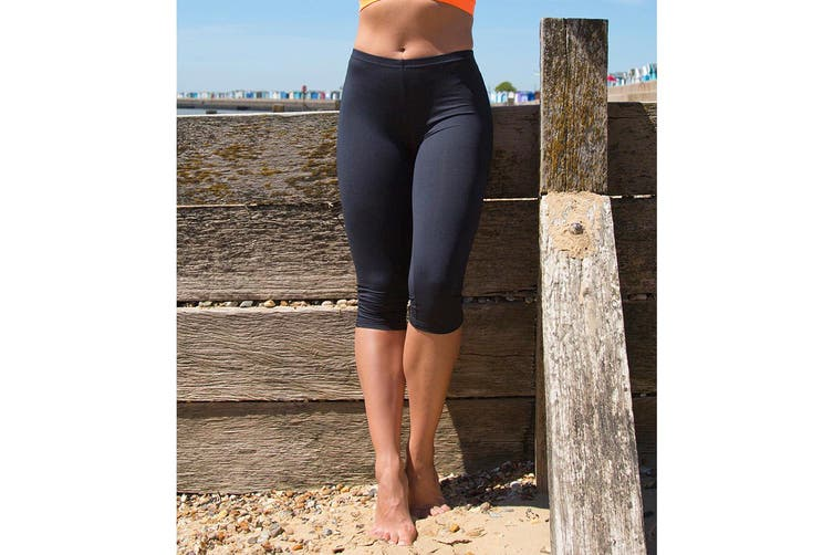 Spiro Womens/Ladies Impact Softex Breathable Capri Pants (Black) (L)