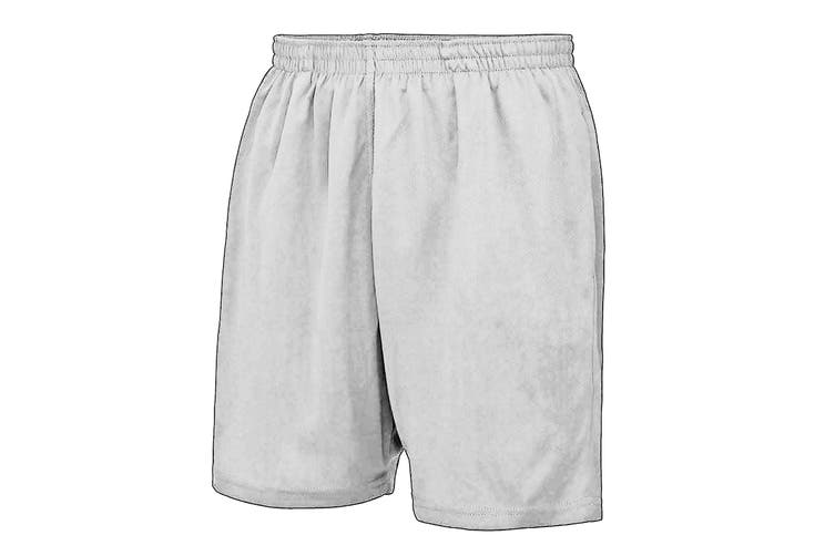 AWDis Just Cool Childrens/Kids Sport Shorts (Arctic White) (5-6 Years)