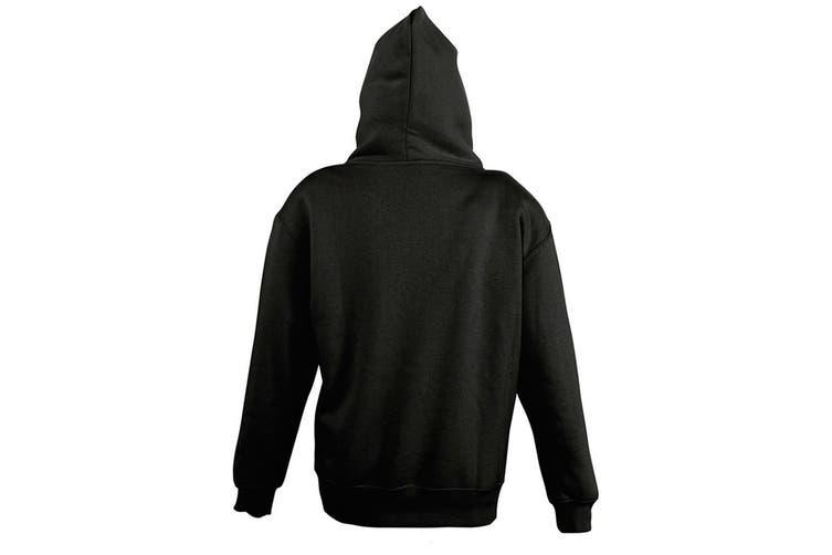 SOLS Childrens/Kids Slam Hooded Sweatshirt (Black) (10 Years)