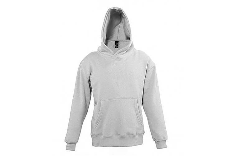 SOLS Childrens/Kids Slam Hooded Sweatshirt (Grey Marl) (8 Years)