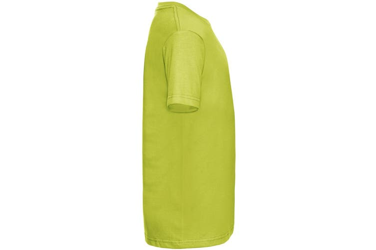 Russell Childrens/Kids Slim Short Sleeve T-Shirt (Lime) (7-8 Years)