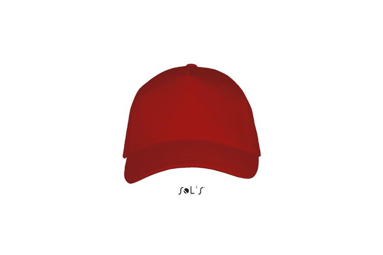 SOLS Unisex Long Beach Cap (Red) (One Size)