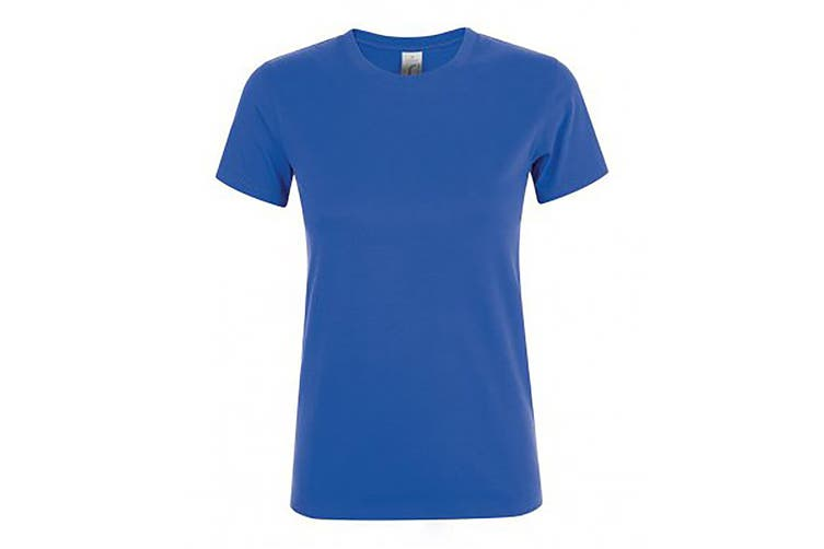 SOLS Womens/Ladies Regent Short Sleeve T-Shirt (Royal) (L)