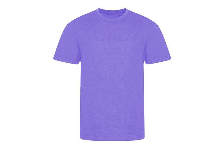 AWDis Mens Tri Blend T Shirt (Heather Purple) (3 Extra Large)
