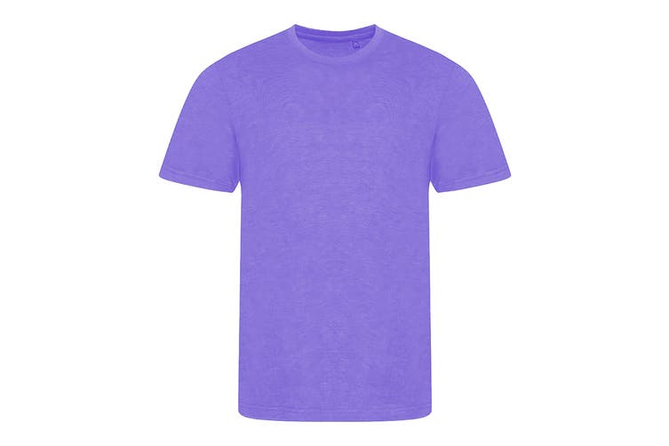 AWDis Mens Tri Blend T Shirt (Heather Purple) (Medium)