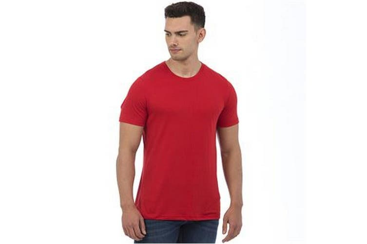 AWDis Mens Tri Blend T Shirt (Heather Red) (Extra Large)