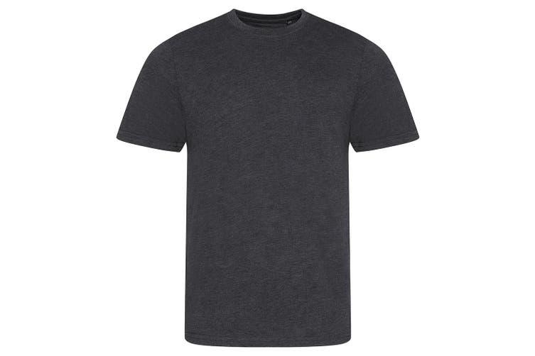 AWDis Mens Tri Blend T Shirt (Heather Charcoal) (Extra Large)