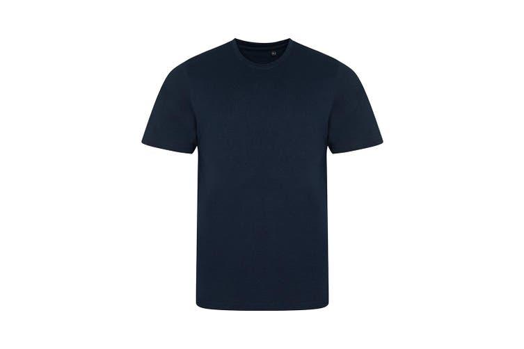 AWDis Mens Tri Blend T Shirt (Solid Navy) (Medium)