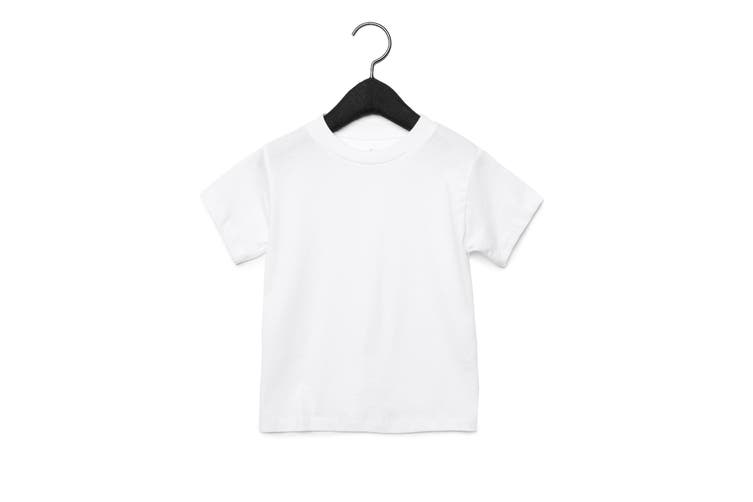 Bella + Canvas Youths Crew Neck T-Shirt (White) (L)