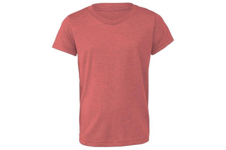 Bella + Canvas Youths Tri-Blend T-Shirt (Mauve Triblend) (M)