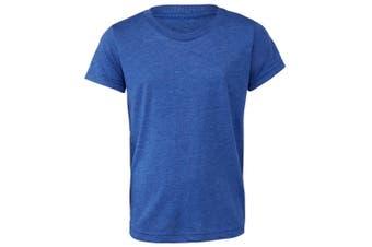 Bella + Canvas Youths Tri-Blend T-Shirt (True Royal Triblend) (S)
