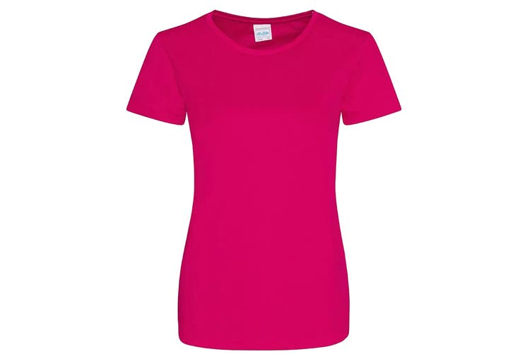 AWDis Just Cool Womens/Ladies Girlie Smooth T-Shirt (Hot Pink) (XL)